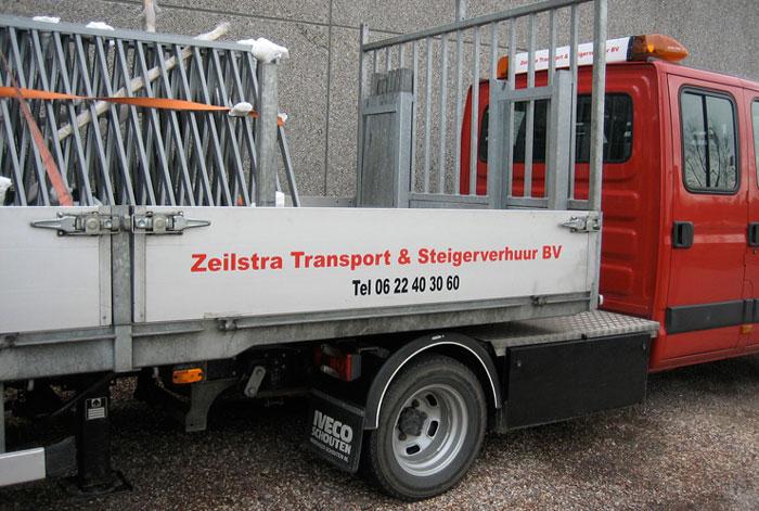 steiger, ladder en hekken transport